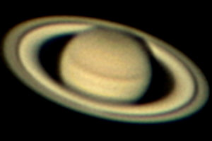 Saturn with Webcam